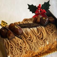 【クリスマスケーキ】ブッシュドノエル マロン